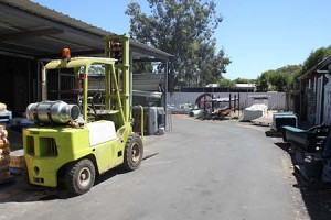 resized forklift & rear of yard